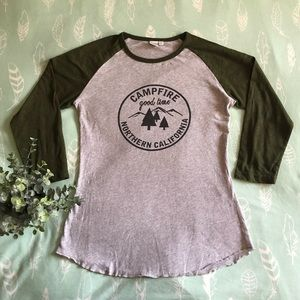 💜Simons Twik raglan cotton tee- size small